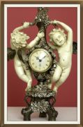 Stunning Antique Effect Beautiful Clock Cherubs Empire Style 40 cm
